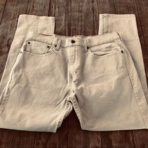 Levi's Mens 502 Taper Fit Beige Jeans Pants 34""